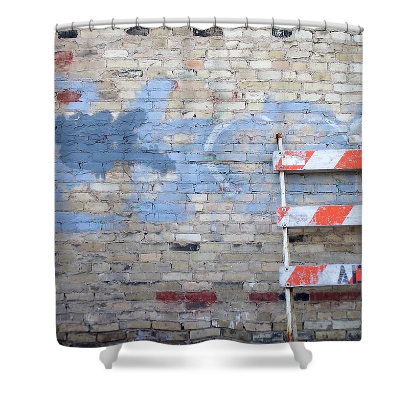 Industrial Shower Curtain featuring the photograph Abstract Brick 2 by Anita Burgermeister
