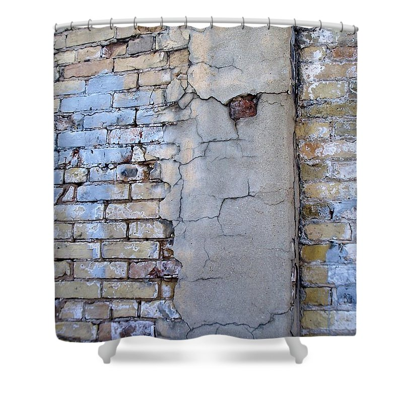 Industrial Shower Curtain featuring the photograph Abstract Brick 4 by Anita Burgermeister
