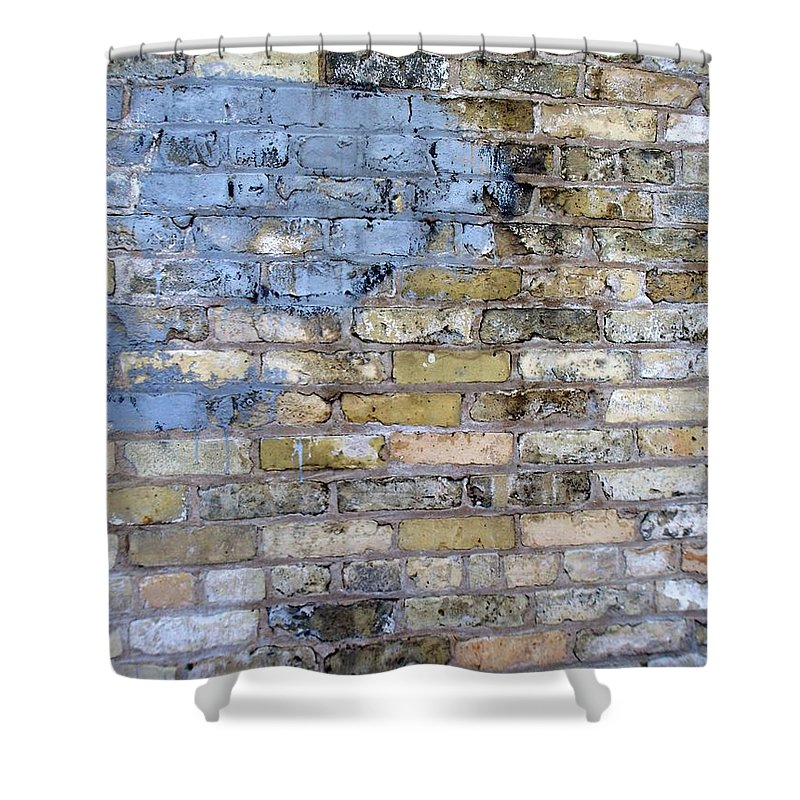 Industrial Shower Curtain featuring the photograph Abstract Brick 6 by Anita Burgermeister