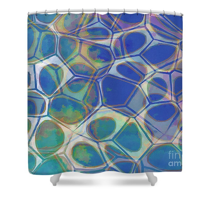 Square Shower Curtain featuring the photograph Abstract Cells 5 by Edward Fielding