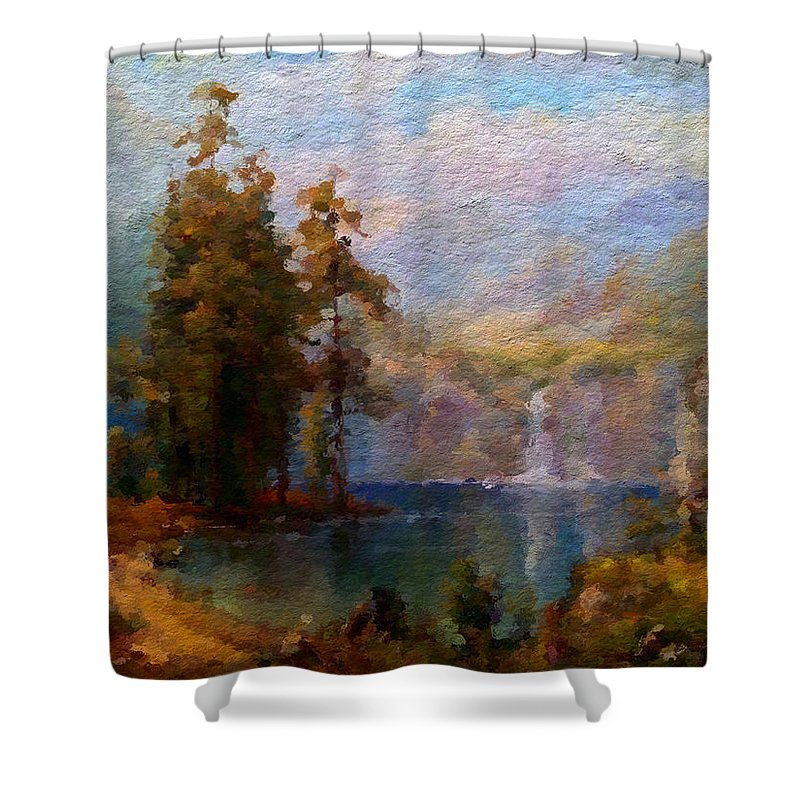 Anthony Fishburne Shower Curtain featuring the digital art Abstract Colorful Nature by Anthony Fishburne