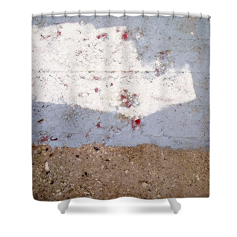 Industrial. Urban Shower Curtain featuring the photograph Abstract Concrete 13 by Anita Burgermeister