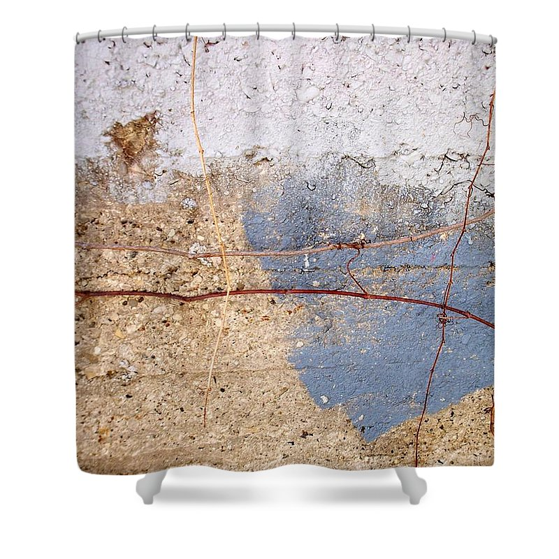 Industrial. Urban Shower Curtain featuring the photograph Abstract Concrete 15 by Anita Burgermeister