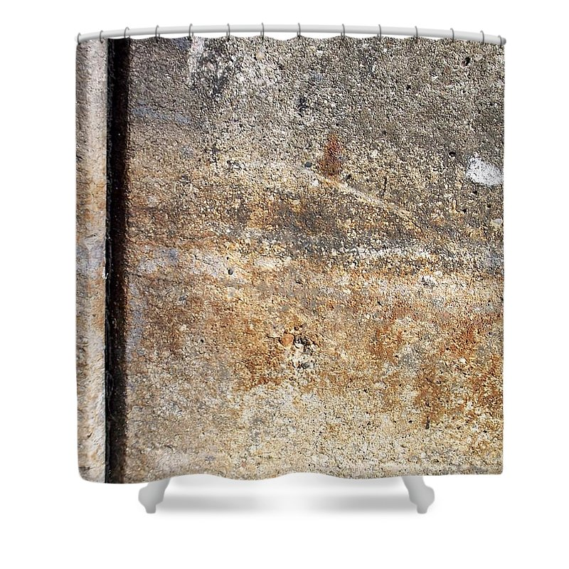 Industrial. Urban Shower Curtain featuring the photograph Abstract Concrete 17 by Anita Burgermeister