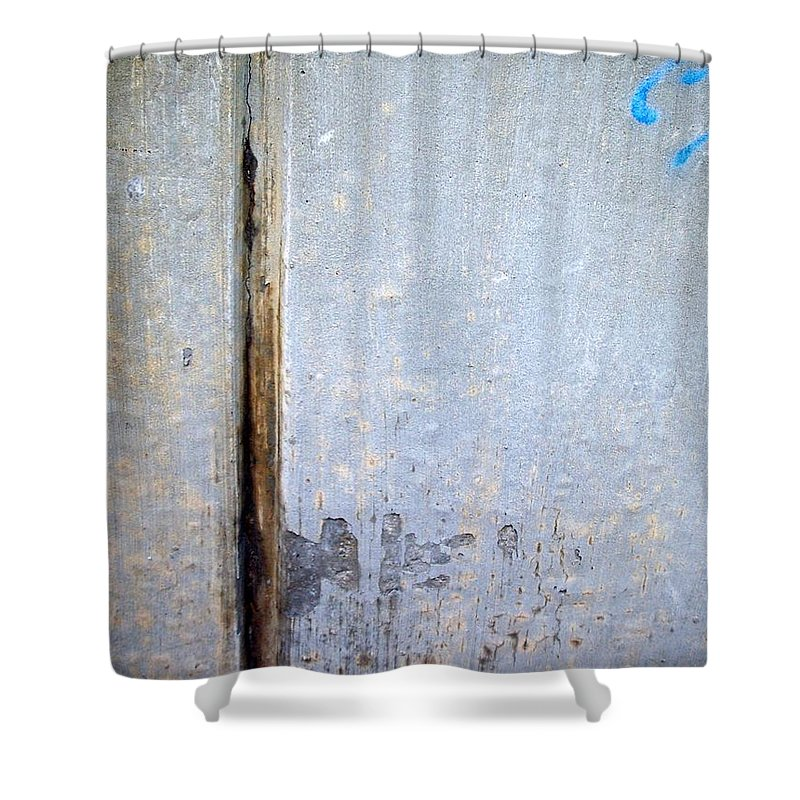 Industrial. Urban Shower Curtain featuring the photograph Abstract Concrete 19 by Anita Burgermeister