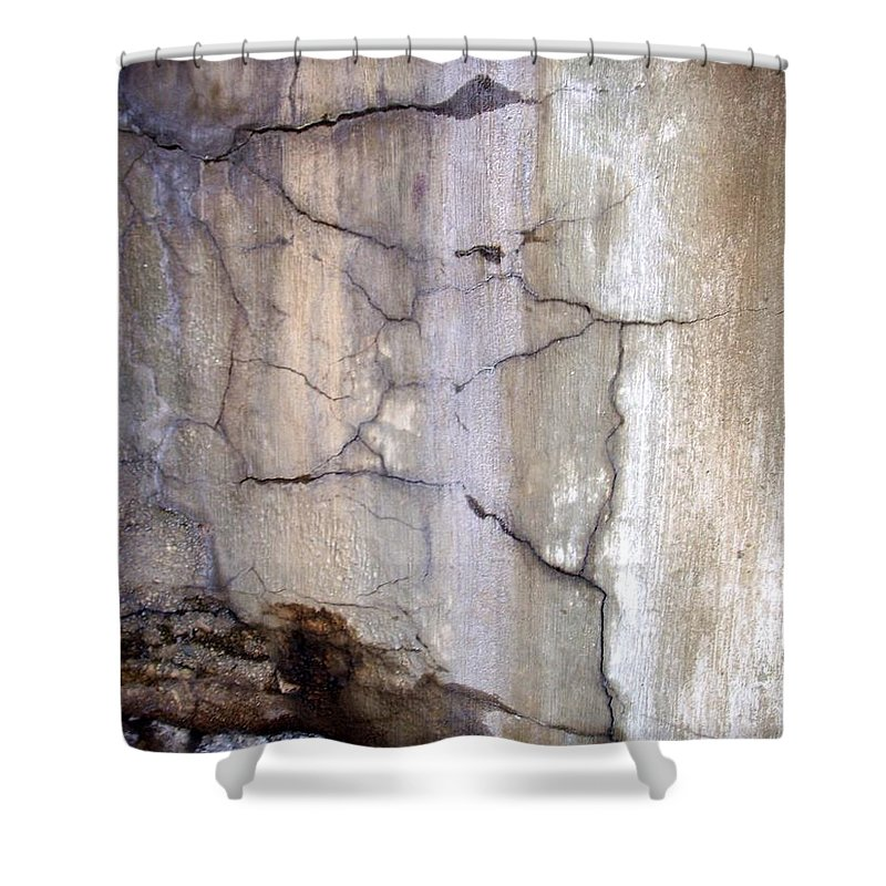 Industrial. Urban Shower Curtain featuring the photograph Abstract Concrete 2 by Anita Burgermeister