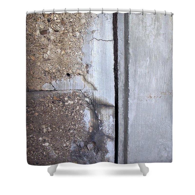 Industrial. Urban Shower Curtain featuring the photograph Abstract Concrete 5 by Anita Burgermeister