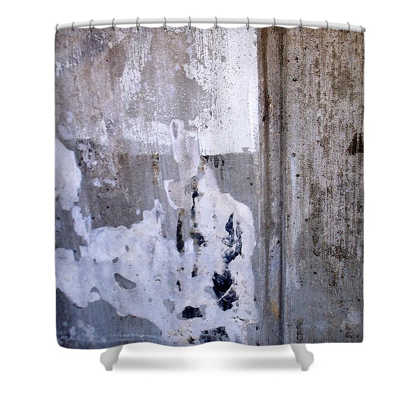 Industrial. Urban Shower Curtain featuring the photograph Abstract Concrete 6 by Anita Burgermeister