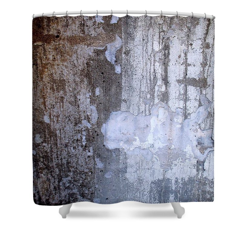 Industrial. Urban Shower Curtain featuring the photograph Abstract Concrete 8 by Anita Burgermeister