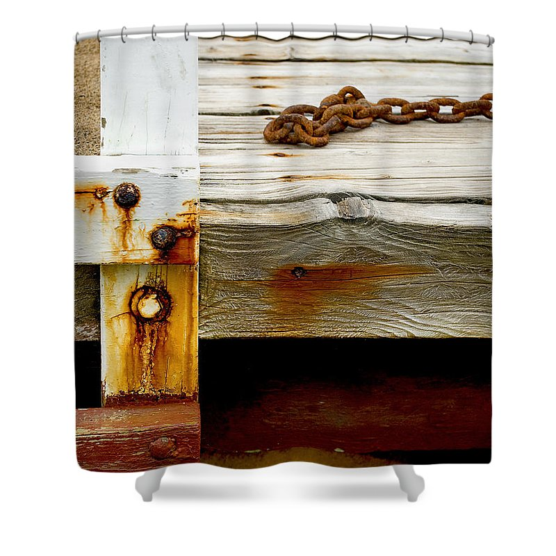 Abstract Shower Curtain featuring the photograph Abstract Dock by Charles Harden