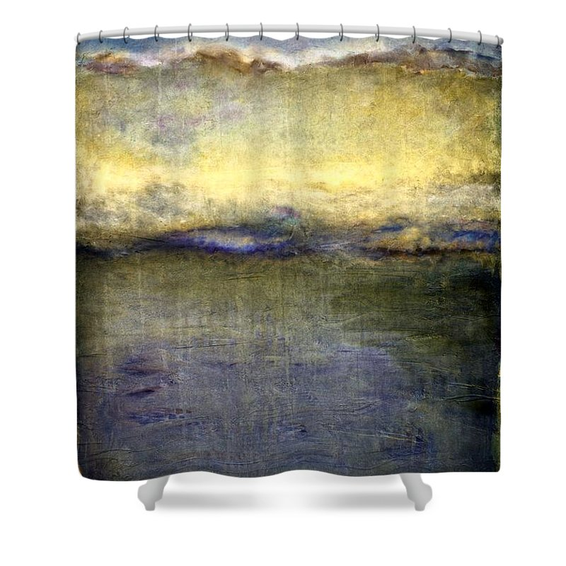 Oceanside Shower Curtain featuring the painting Abstract Dunes 3.0 by Michelle Calkins