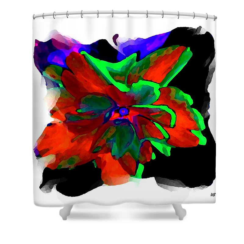 Abstract Shower Curtain featuring the digital art Abstract Elegance by Will Borden