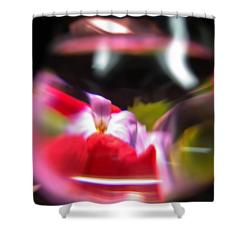 Abstract Shower Curtain featuring the photograph Abstract Flowers Part Two by Scott Wyatt