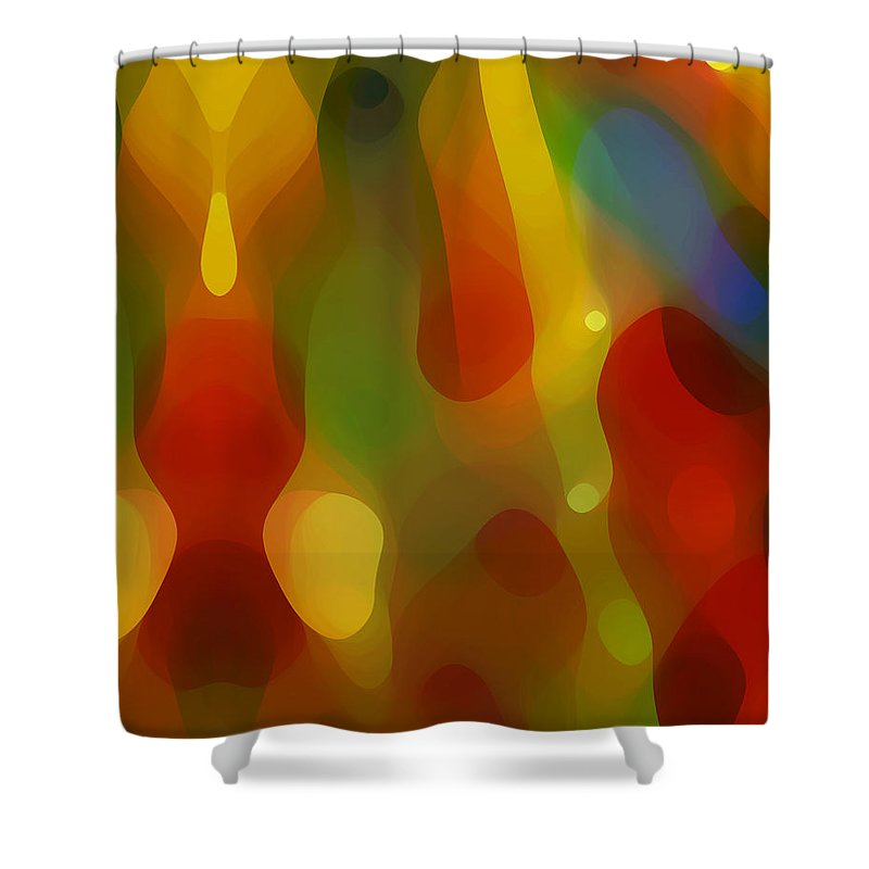 Abstract Art Shower Curtain featuring the painting Abstract Flowing Light by Amy Vangsgard