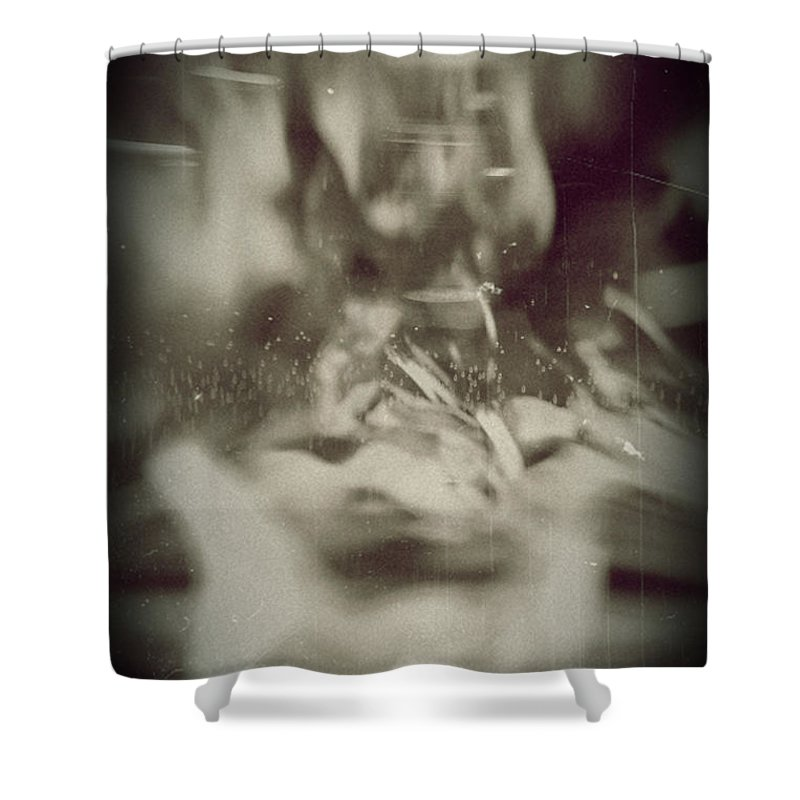 Abstract Shower Curtain featuring the photograph Abstract Glass by Scott Wyatt