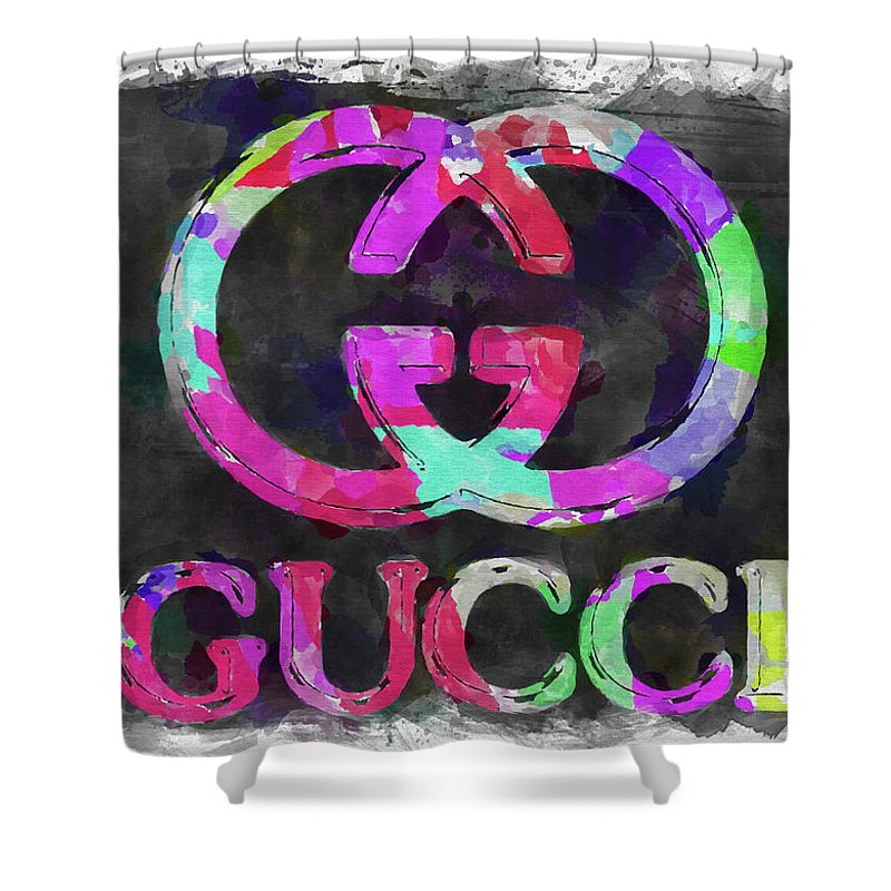 42e087258 Abstract Gucci Logo Watercolor Shower Curtain for Sale by Ricky Barnard
