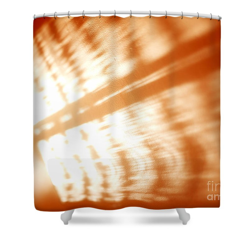 Abstract Shower Curtain featuring the photograph Abstract Light Rays by Tony Cordoza