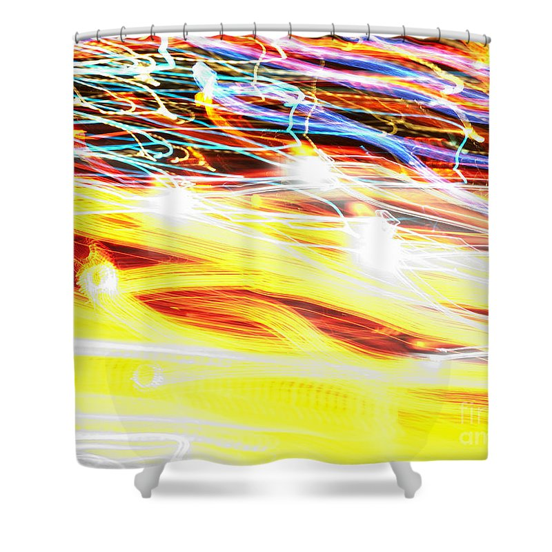 Abstract Shower Curtain featuring the photograph Abstract Light by Tony Cordoza