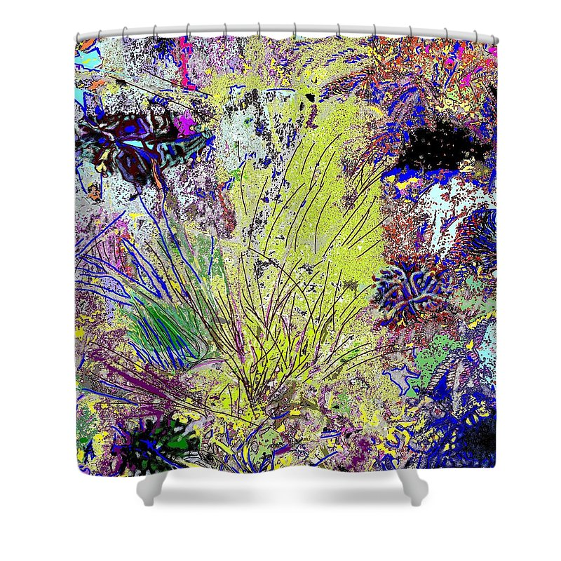 Abstract Shower Curtain featuring the photograph Abstract Musings by Ian MacDonald