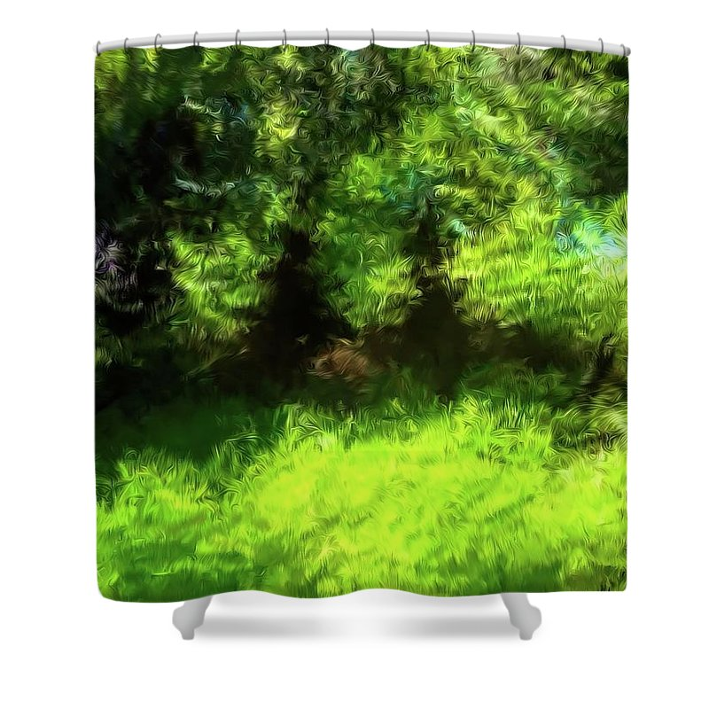 Nature Shower Curtain featuring the photograph Abstract Nature 834 by Kristalin Davis