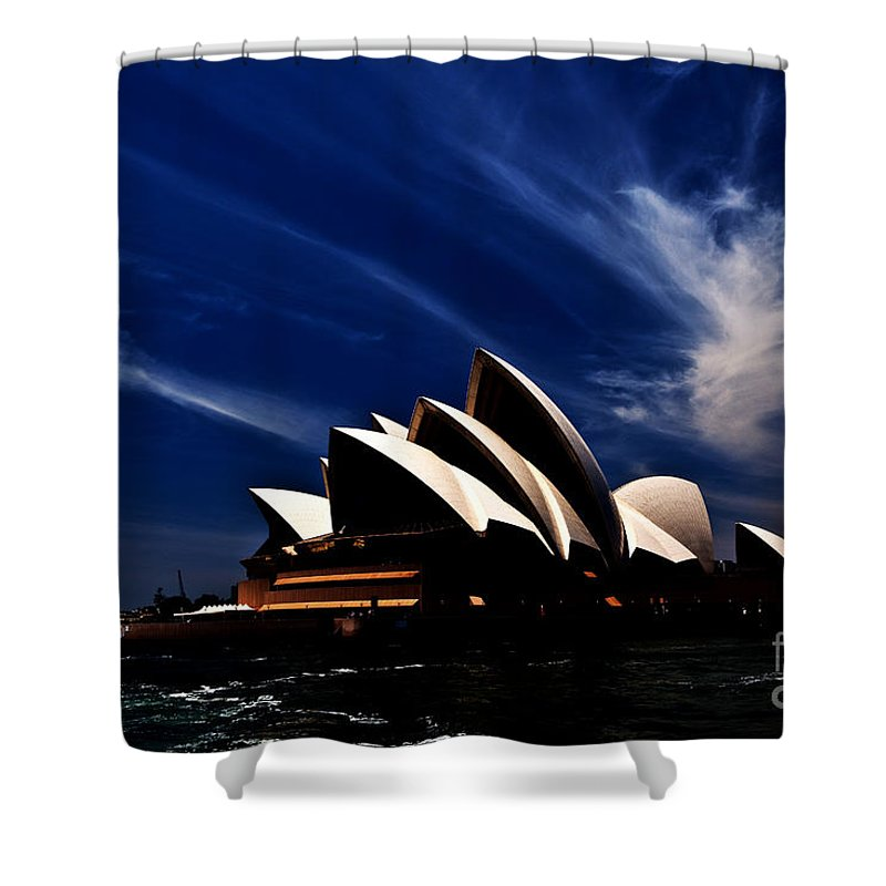 Sydney Opera House Shower Curtain featuring the photograph Abstract Of Sydney Opera House by Sheila Smart Fine Art Photography