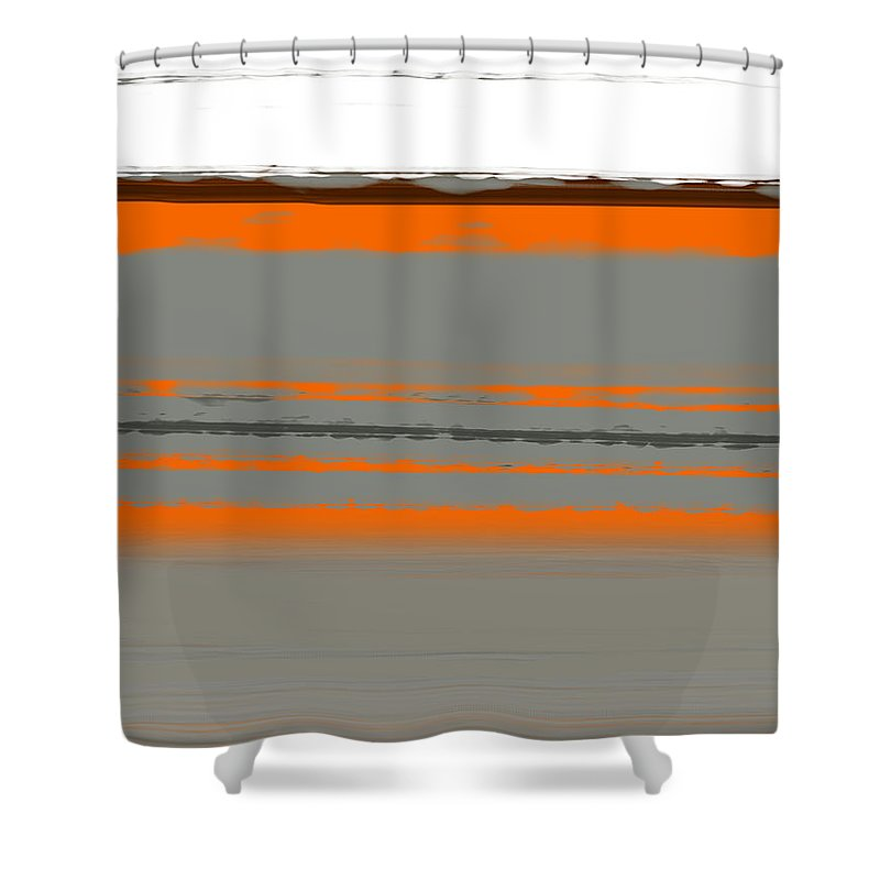 Abstract Shower Curtain featuring the painting Abstract Orange 2 by Naxart Studio