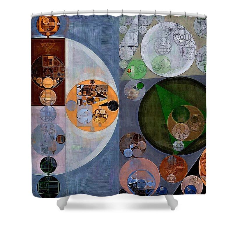 Fantastic Shower Curtain featuring the digital art Abstract Painting - Dark Gray by Vitaliy Gladkiy