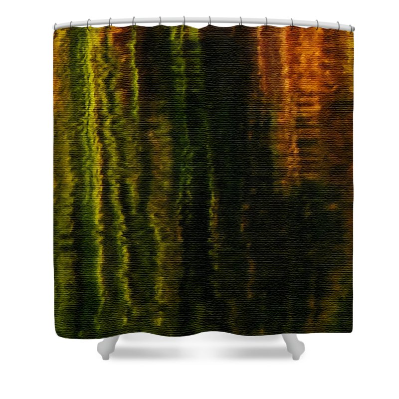 Abstract Shower Curtain featuring the photograph Abstract Reeds Triptych Bottom by Steven Sparks