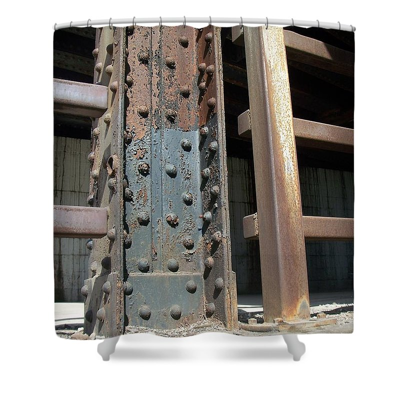Urban Shower Curtain featuring the photograph Abstract Rust 1 by Anita Burgermeister