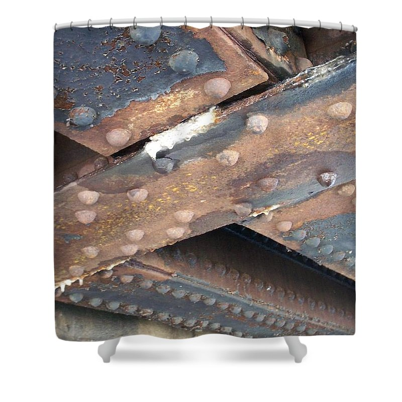 Urban Shower Curtain featuring the photograph Abstract Rust 2 by Anita Burgermeister