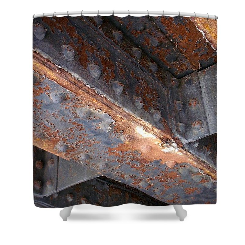 Urban Shower Curtain featuring the photograph Abstract Rust 3 by Anita Burgermeister