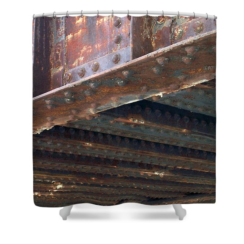 Urban Shower Curtain featuring the photograph Abstract Rust 4 by Anita Burgermeister