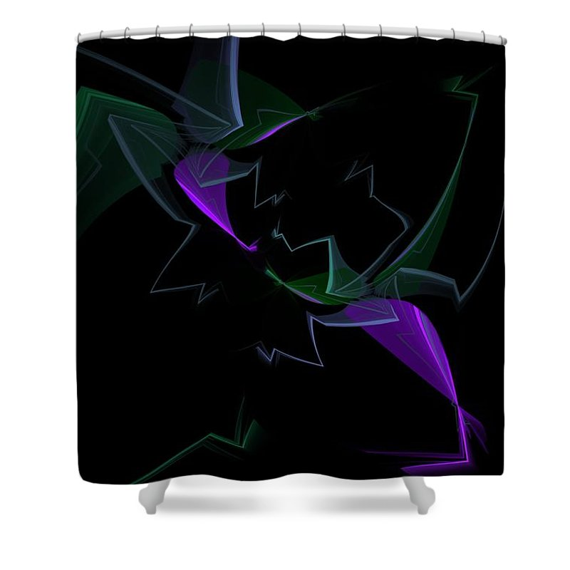 Digital Painting Shower Curtain featuring the digital art Abstract Still Life by David Lane