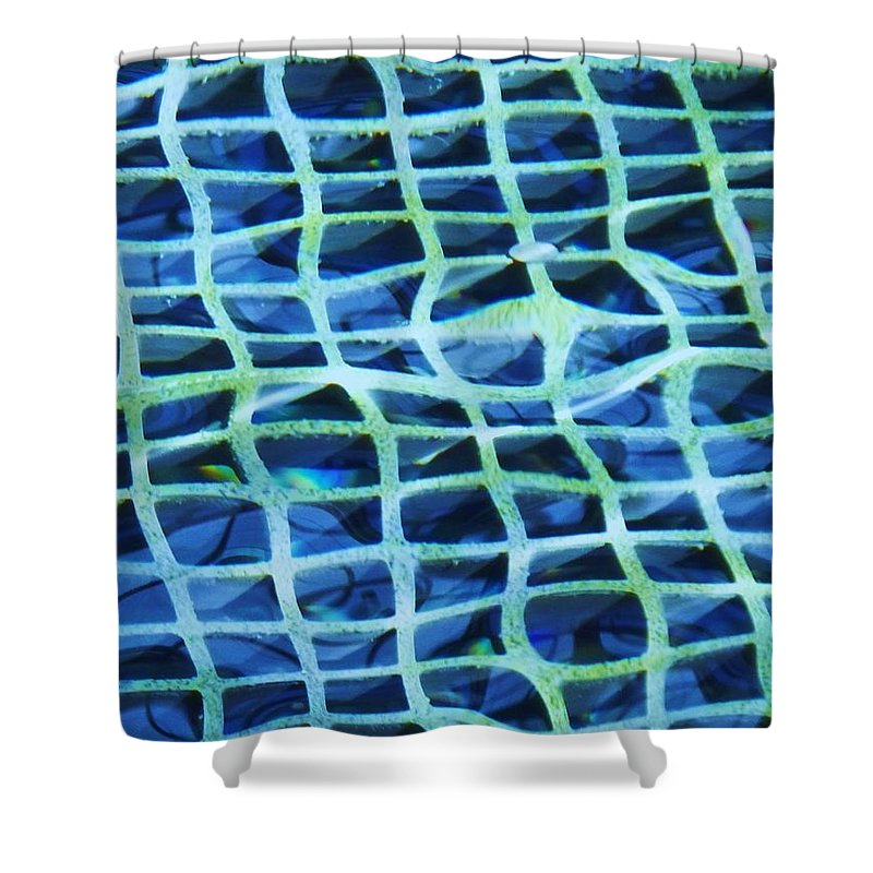 Abstract Shower Curtain featuring the painting Abstract Underwater by Eric Schiabor