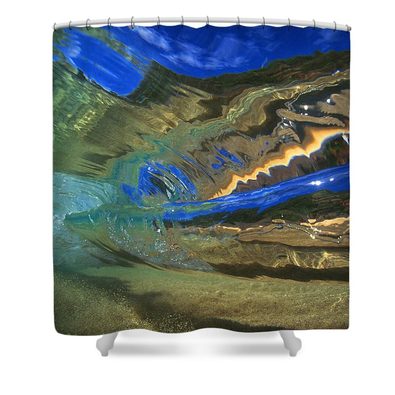 Abstract Shower Curtain featuring the photograph Abstract Underwater View by Vince Cavataio - Printscapes