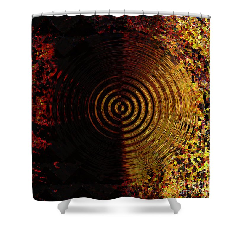 Canvas Shower Curtain featuring the digital art Abstract Water Effect by Swedish Attitude Design