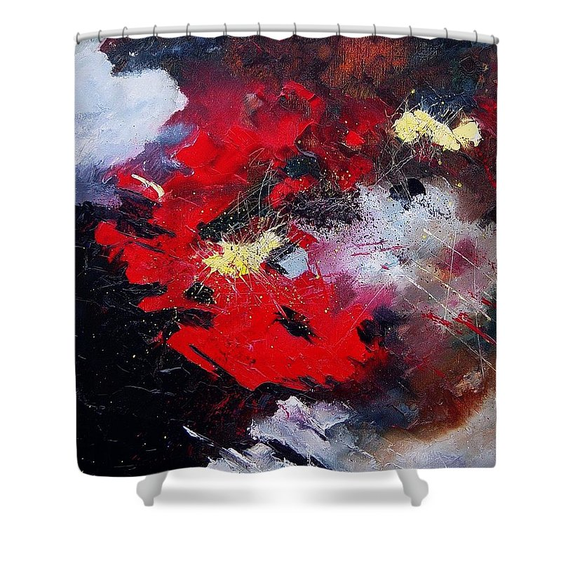 Abstract Shower Curtain featuring the painting Abstract070406 by Pol Ledent