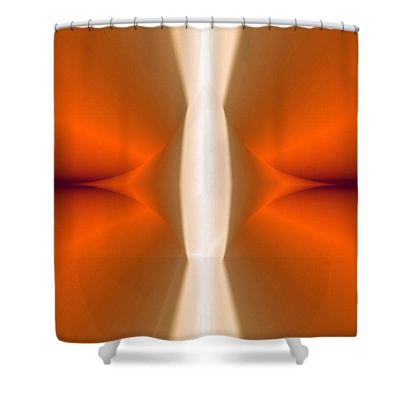 Digital Painting Shower Curtain featuring the digital art Abstract309b by David Lane