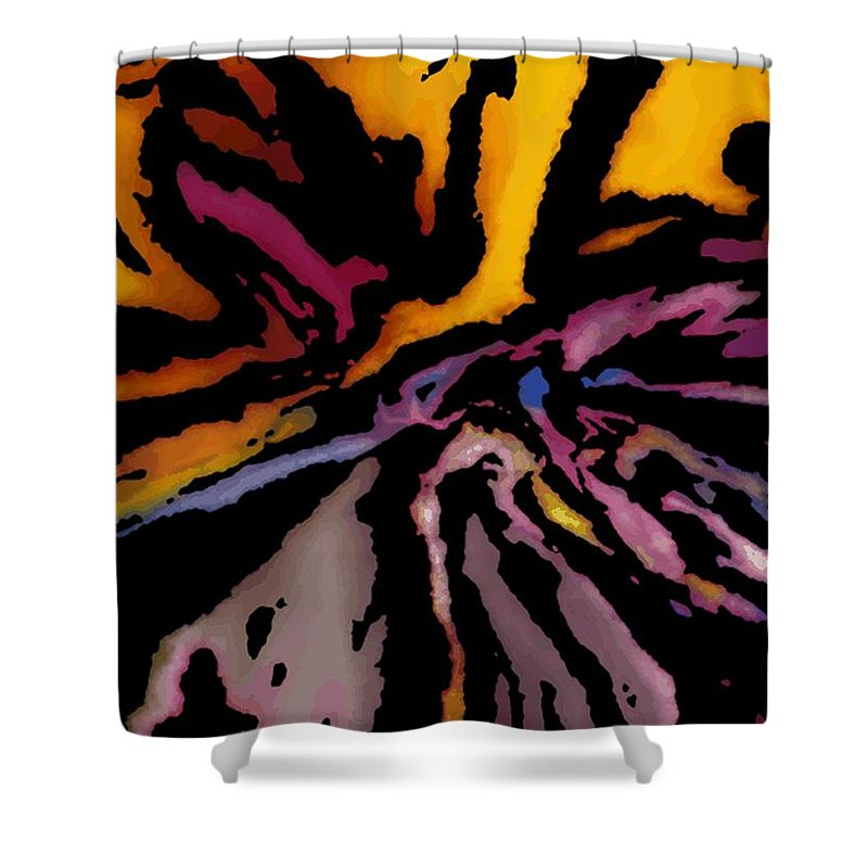 Abstract Shower Curtain featuring the digital art Abstract309g by David Lane