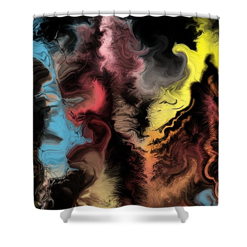 Abstract Shower Curtain featuring the digital art Abstract309i by David Lane