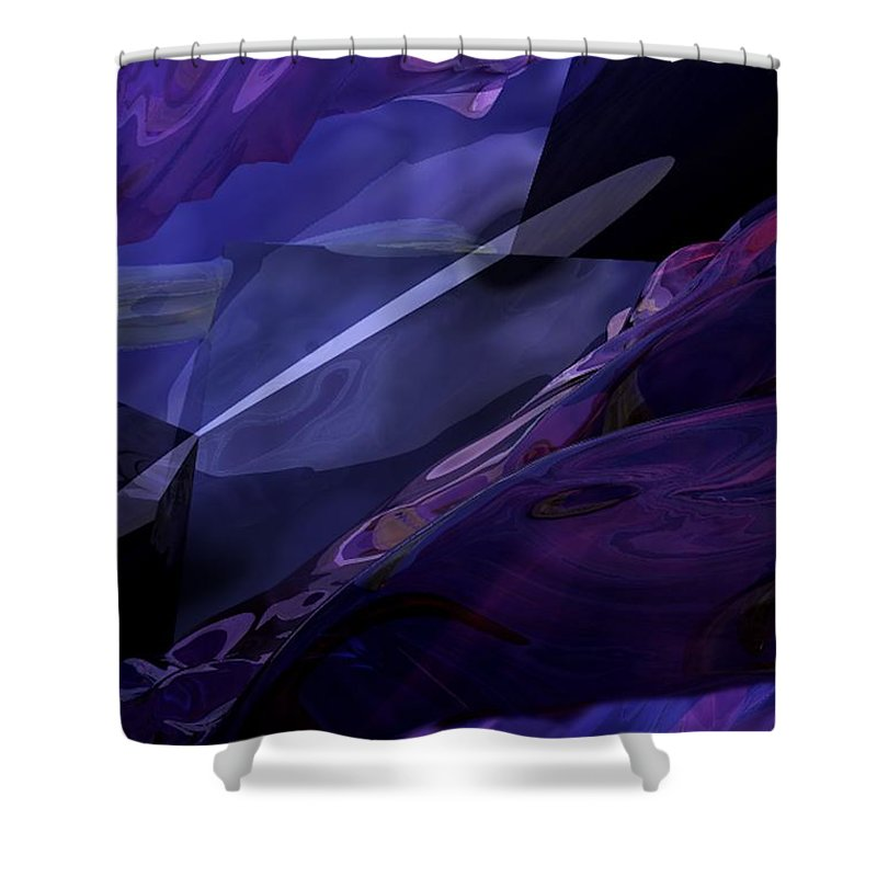 Abstract Shower Curtain featuring the digital art Abstractbr6-1 by David Lane