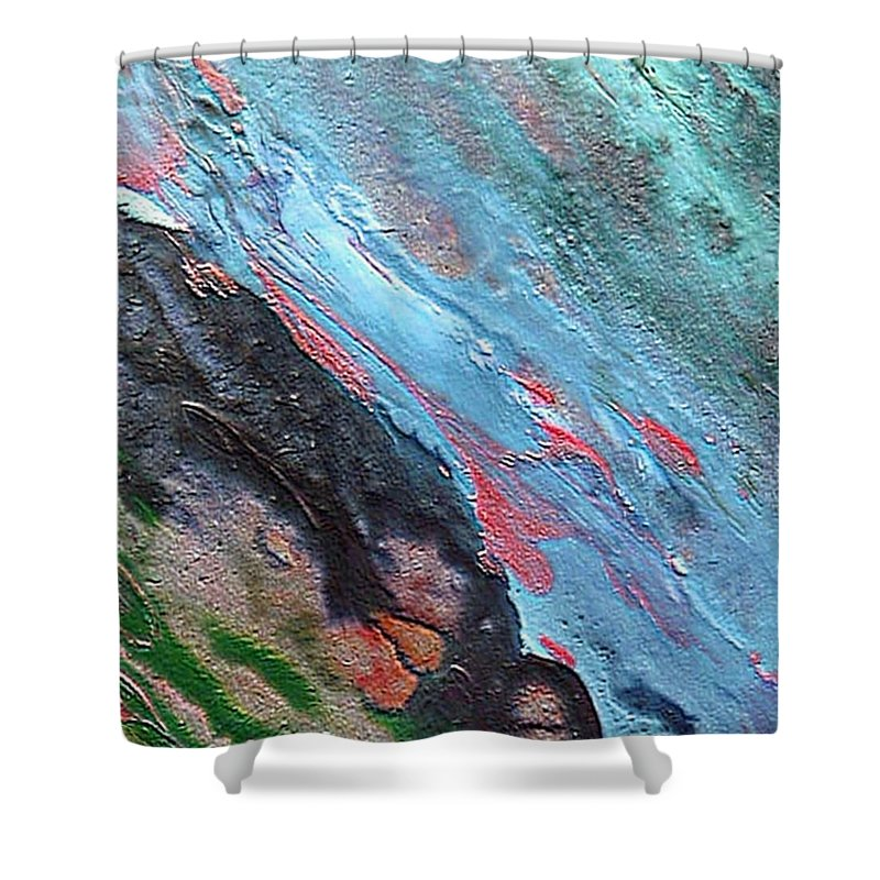 Abyss Shower Curtain featuring the painting Abyss by Dragica Micki Fortuna