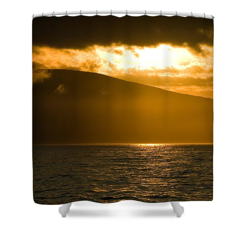 Sunset Shower Curtain featuring the photograph Acadia National Park Sunset by Sebastian Musial