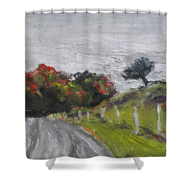 Art Shower Curtain featuring the painting Aceo No. 2015-9 by Francois Fournier