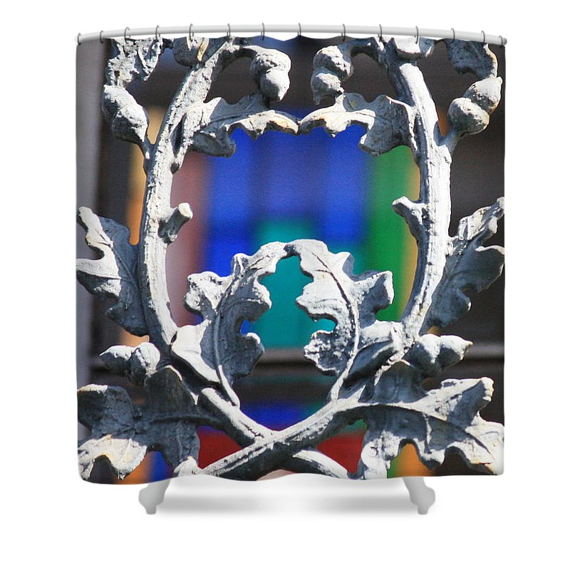 New Orleans Shower Curtain featuring the photograph Acorn Ironwork by Carol Groenen