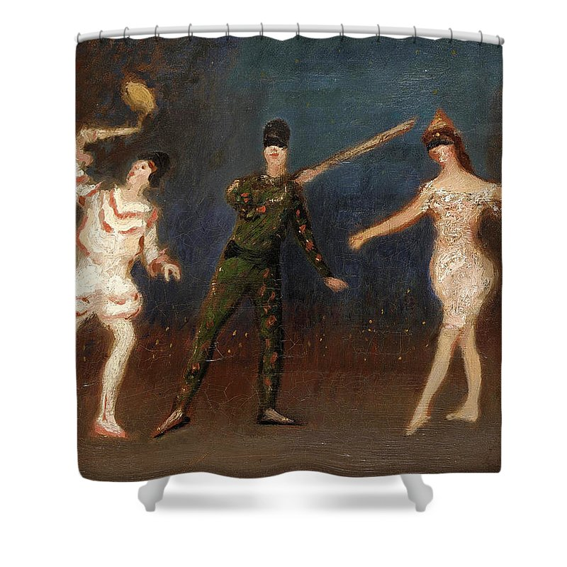 Spencer Frederick Gore Shower Curtain featuring the painting Acrobats by Spencer Frederick Gore