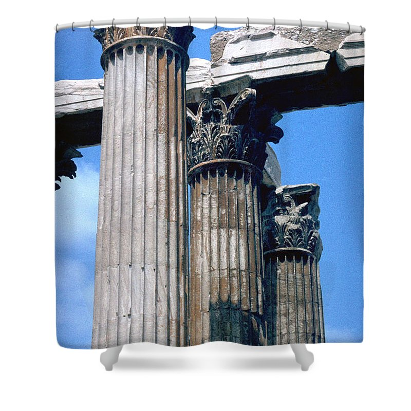 Acropolis Shower Curtain featuring the photograph Acropolis by Flavia Westerwelle