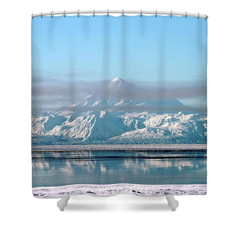 Mountain Shower Curtain featuring the photograph Across The Bay by Rick Monyahan