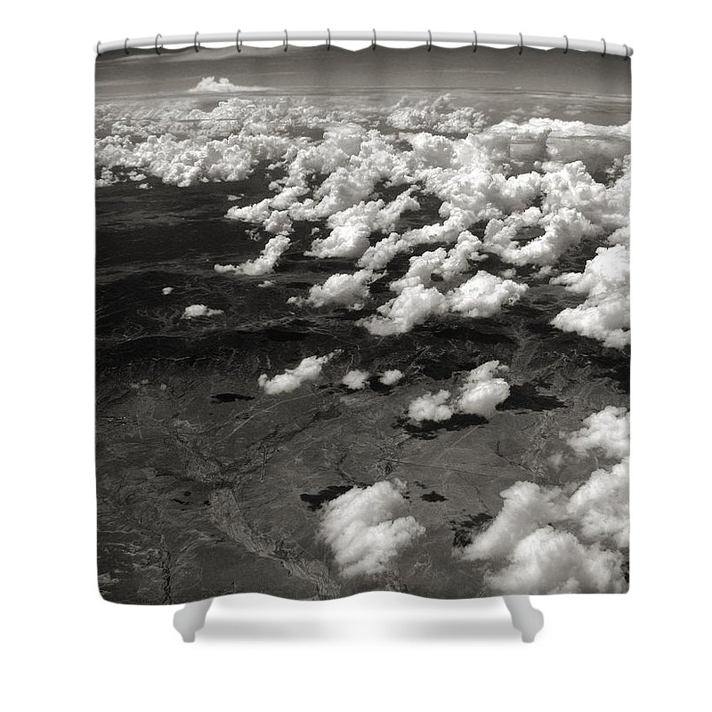Clouds Shower Curtain featuring the photograph Across The Miles II by Joanne Coyle