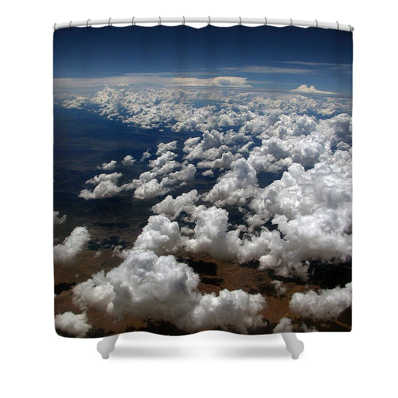 Greeting Card Shower Curtain featuring the photograph Across The Miles by Joanne Coyle